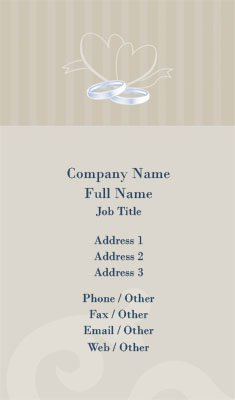 Wedding Planner Business Card Template